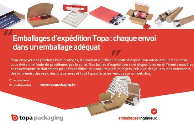 Emballages d'expédition Topa : chaque envoi dans un emballage adéquat