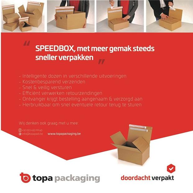 TOPA SPEEDBOX, met meer gemak steeds sneller verpakken