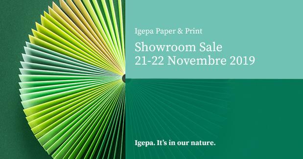 Igepa se prépare  pour le 'showroom sale' le 21 et 22 novembre 2019 !