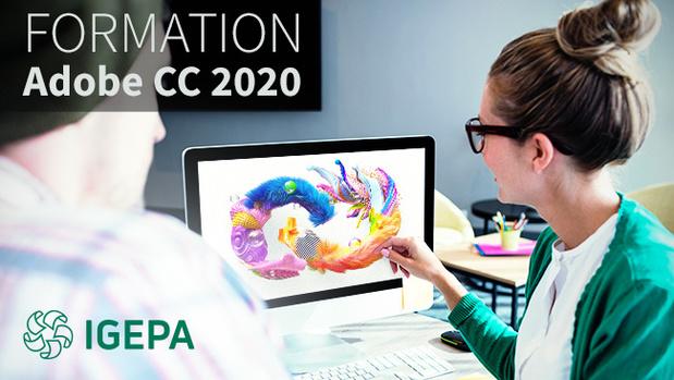 """Igepa introduit des formations """"Adobe Creative Cloud 2020"""" chez vous à l'entreprise !"""