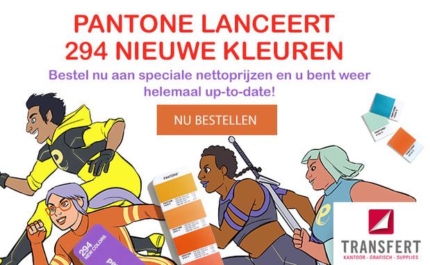 PANTONE lanceert 294 nieuwe kleuren !