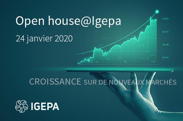 """Open house@Igepa """"Croissance sur de nouveaux marchés"""" 24/01/2020"""