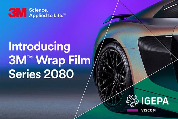 Igepa verdeelt nieuwe generatie 2080 car wrap folies van 3M!