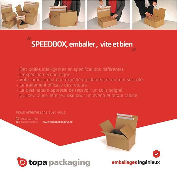 TOPA SPEEDBOX : emballer, vite et bien