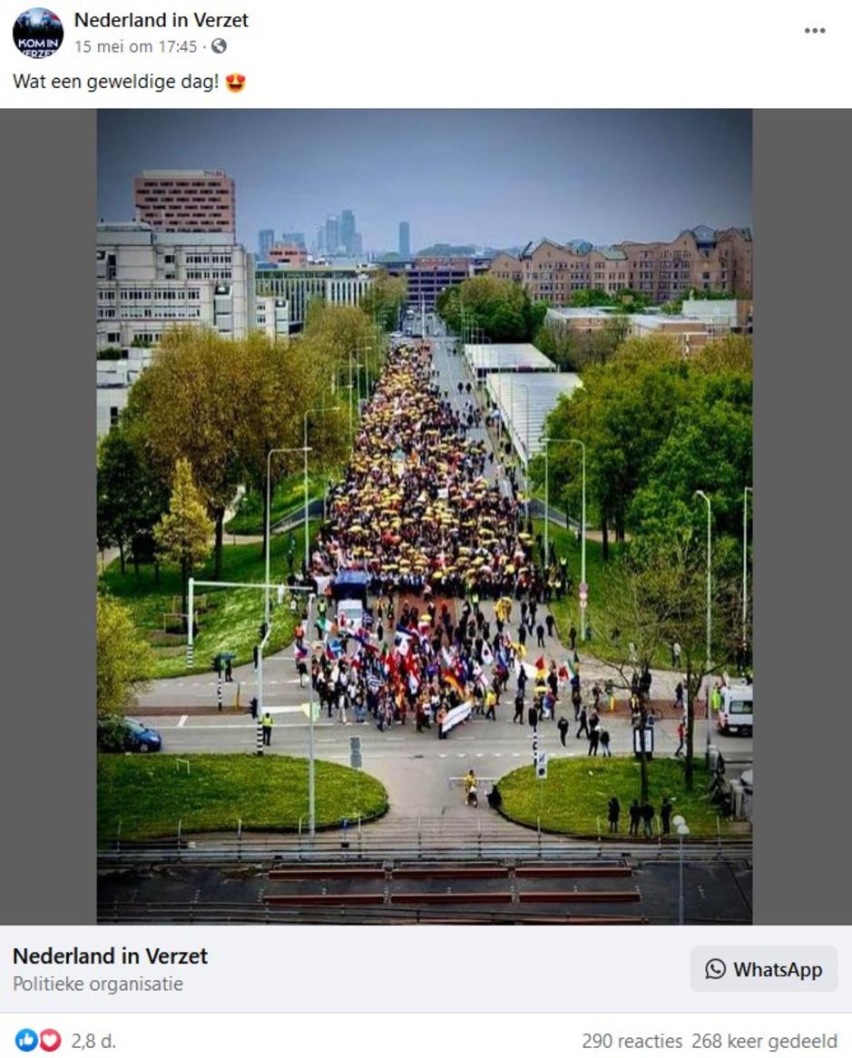 Factcheck: nee, niet 'ruim 10.000 mensen' liepen in optocht tegen coronamaatregelen