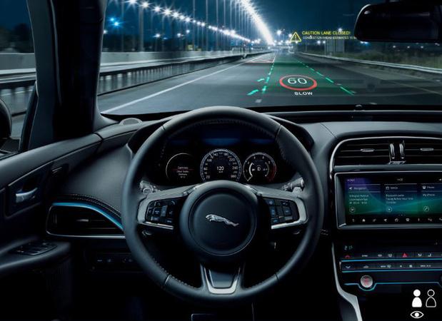 Jaguar wil verkeersinformatie in 3D op de weg projecteren