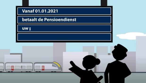 Betaling van de pensioenen van de Belgische spoorwegen voortaan door de Pensioendienst