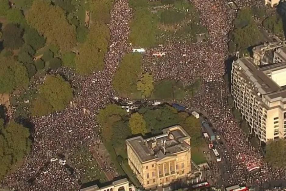 Factcheck: nee, dit is geen foto van een Londense anti-lockdownmars