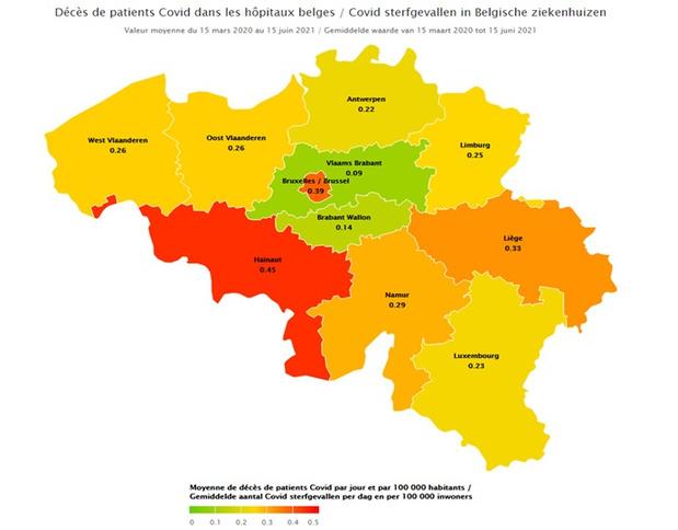 Aantal covid-gevallen, opnames en overlijdens in (provinciale) statistieken