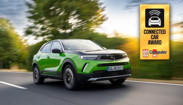 Le nouvel Opel Mokka-e remporte le Connected Car Award