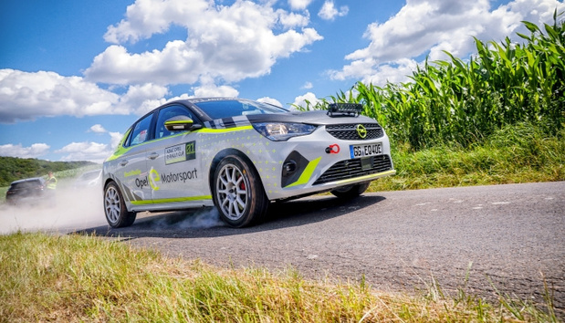 Opel Corsa e-Rally: safety first