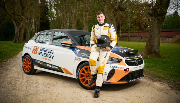 Charles Munster in Opel e-Rally Cup