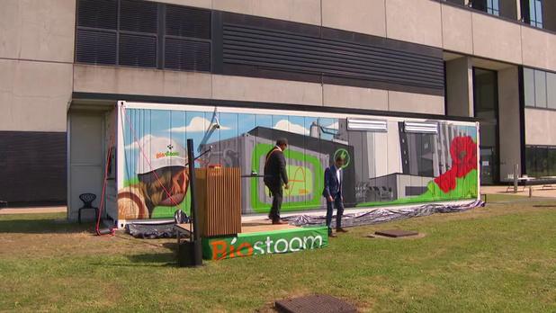 Biostoom Oostende stabiliseert stroomnet met innovatieve batterij (video)