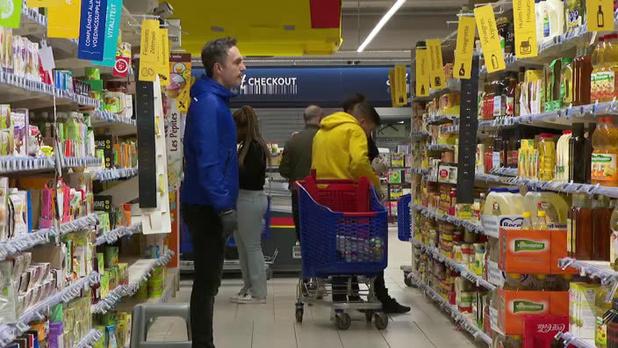 Les prix dans les supermarchés jusqu'à 6% plus haut, selon Test-Achats