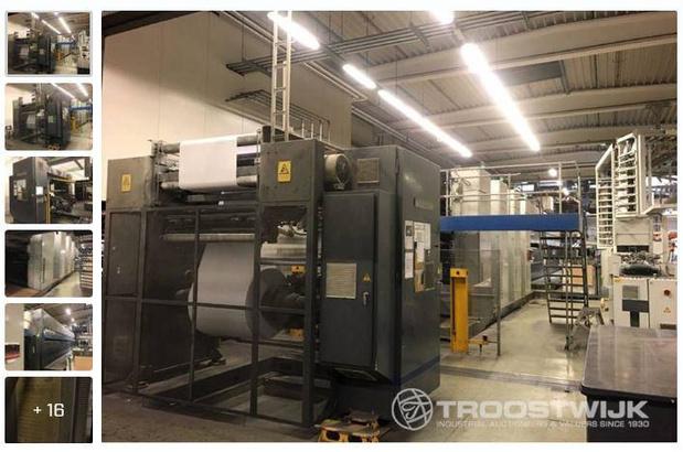Enchères en ligne de l'imprimerie faillie Hoorens Printing le 18 février