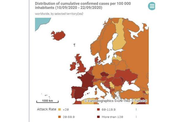 Europese kaart met reisbeperkingen in de maak met wekelijkse update