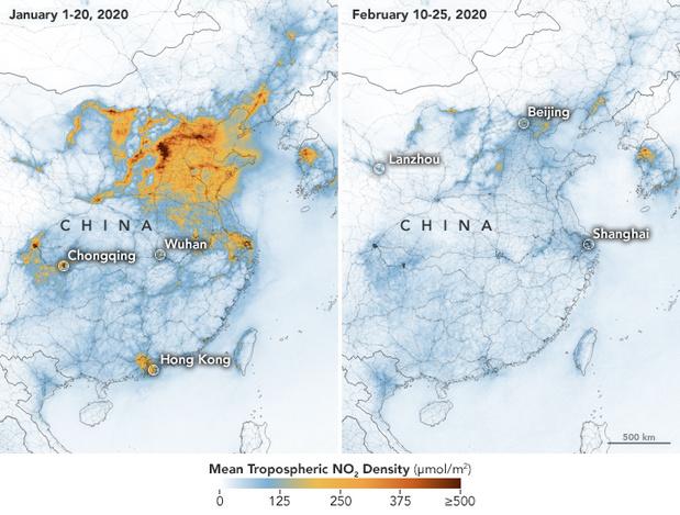 Le coronavirus fait chuter la pollution en Chine