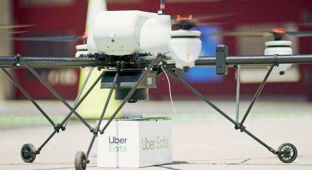Uber gaat maaltijdleveringen met drones testen