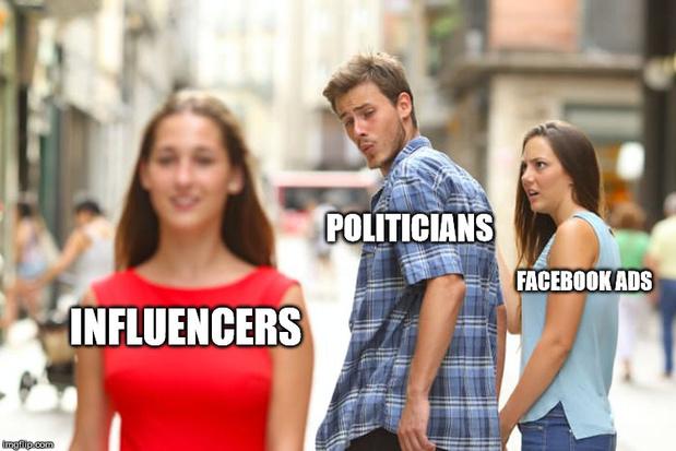 Des politiciens contournent les règles de Facebook grâce aux influenceurs