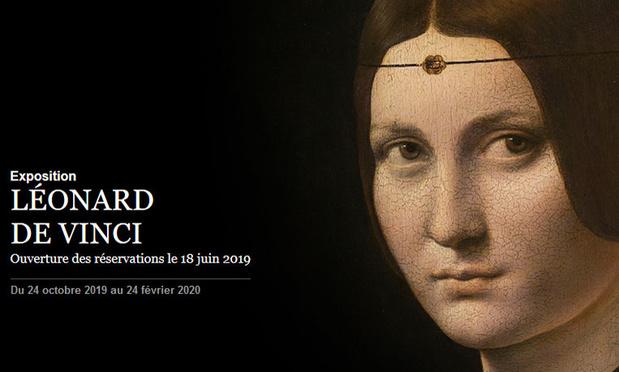 Les réservations pour la grande exposition Léonard de Vinci au Louvre sont déjà ouvertes