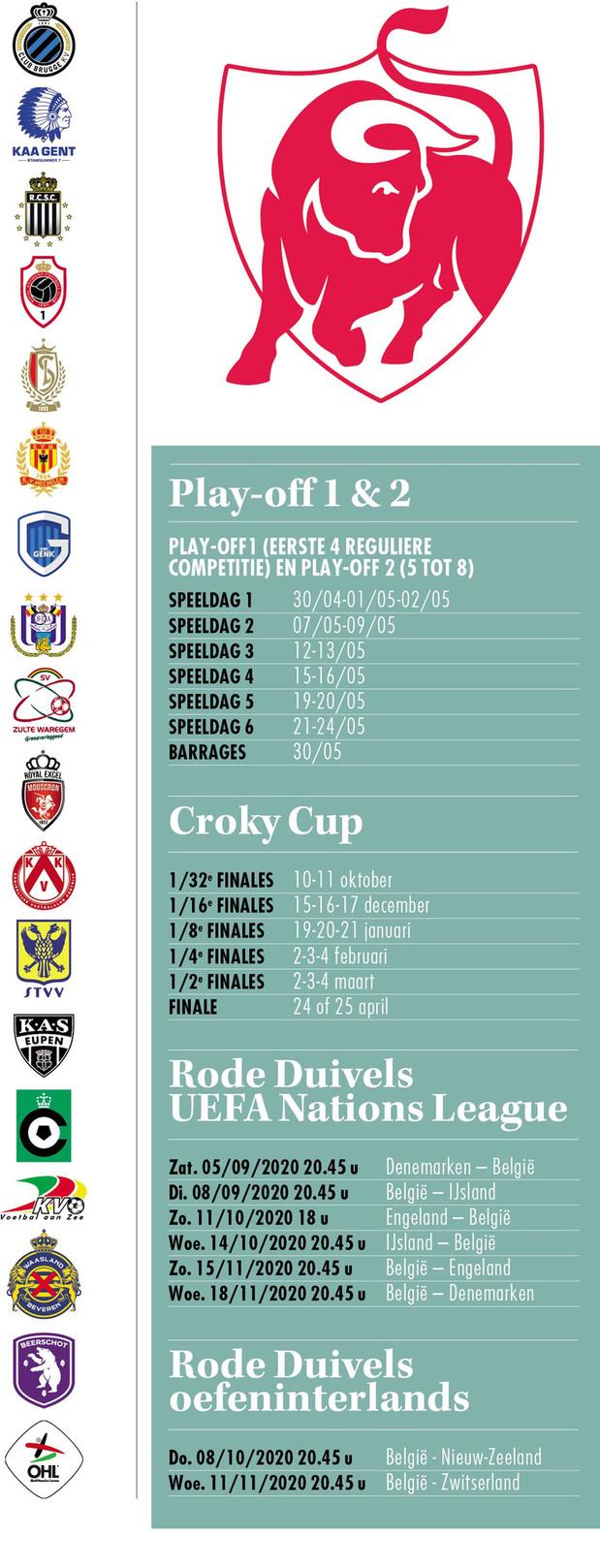 Kalender - Jupiler Pro League 2020/2021