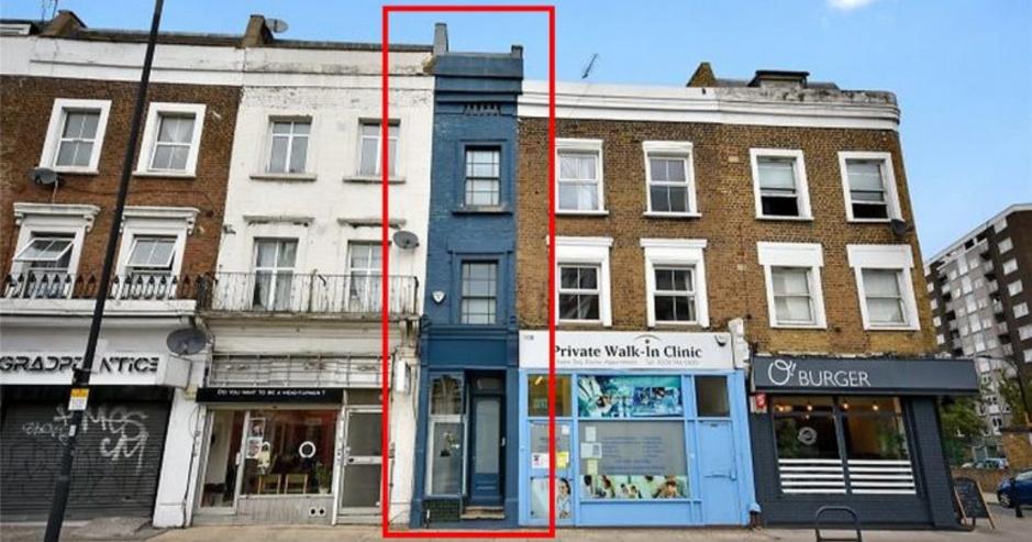 """La """"Slim House"""", la maison la plus étroite de Londres est en vente (en images)"""