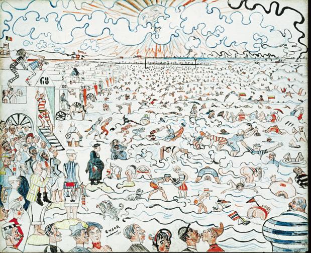 150 figuranten komen 'Baden van Oostende' van Ensor mee op de gevoelige plaat zetten