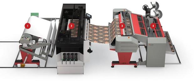 Canon's UVgel Wallpaper Factory: automatische productie van behangpapier
