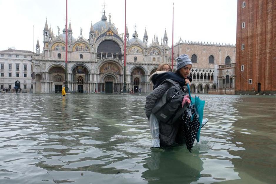 Marée haute historique à Venise (en images)