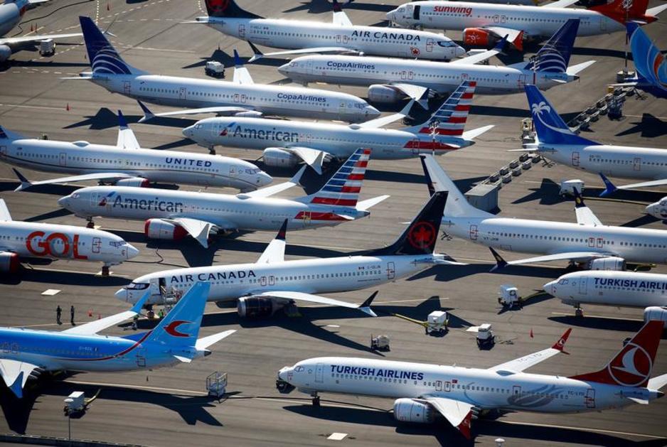 Des dizaines de Boeing 737 MAX cloués au sol (En images)