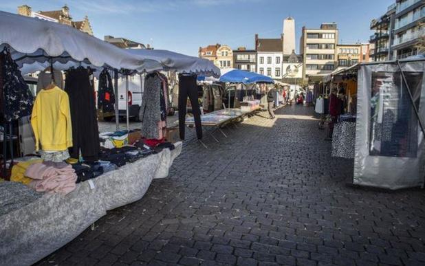 Nog geen zicht op invloed van werken nieuw stadhuis op dinsdagmarkt in Roeselare