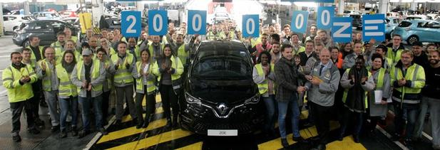 Renault-fabriek produceert 200.000e elektrische auto