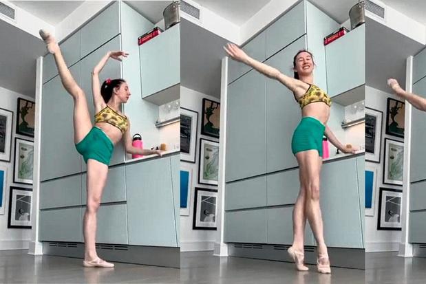 Isabella Boylston geeft online balletles in haar keuken: 'Elke kijker geeft me positieve energie'