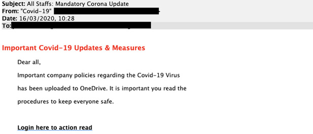 Phishing rond coronavirus richt zich nu op thuiswerkers