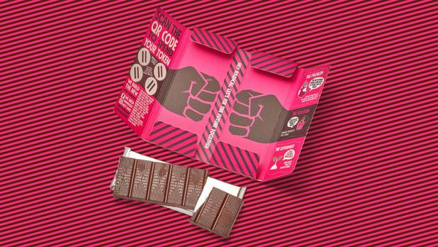 Snoepen als sociaal experiment: deze reep laat je kiezen tussen meer chocolade en meer toekomst