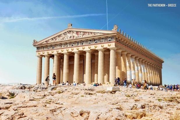 Du Parthénon au temple de Louxor, ces GIF font revivre des bâtiments en ruines