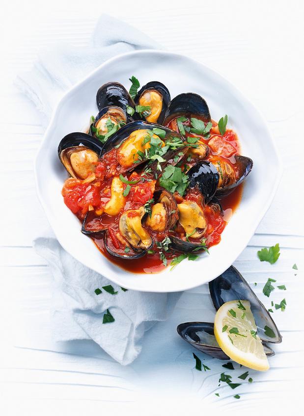 Recette des Moules à la sauce tomate