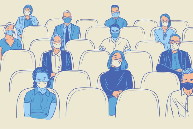 De wereld na corona: gaan we met mondkapjes naar het anderhalvemetertheater?