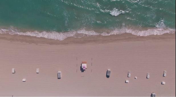 Vu du ciel: sans présence humaine, Miami offre un visage inédit