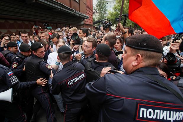 Meerdere manifestanten opgepakt na betoging voor eerlijke verkiezingen in Moskou
