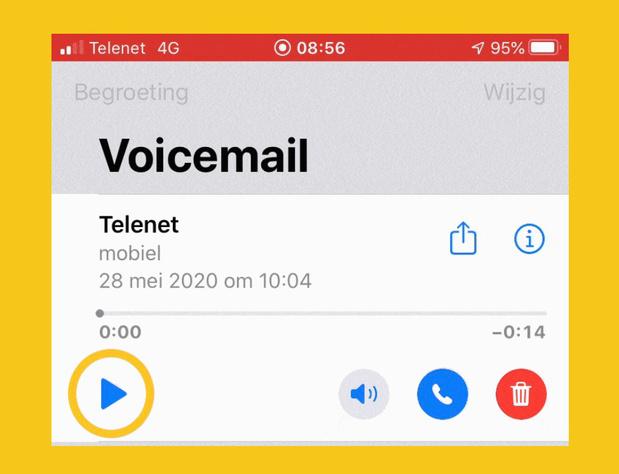 Telenet active le mail vocal visuel sur l'iPhone