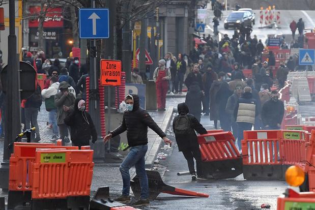 Zware rellen in Luik na betoging