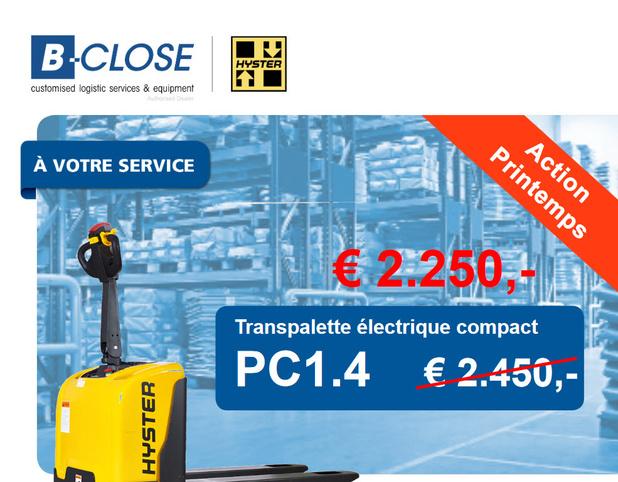 Action transpalette électrique compacte, PC1.4