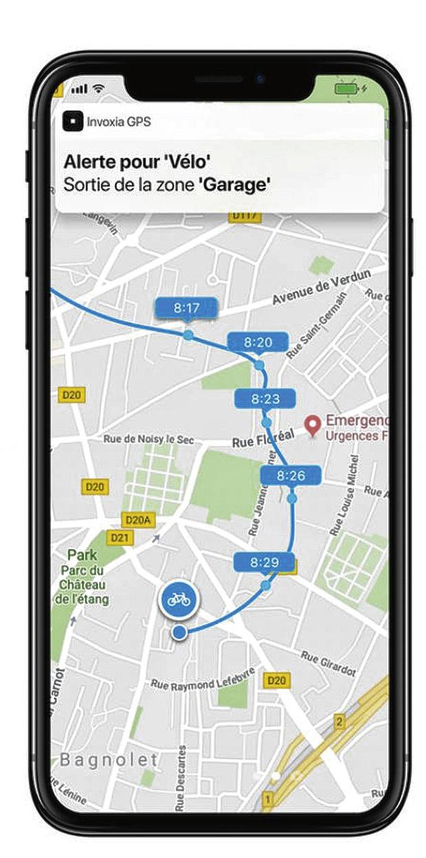 Balise GPS pour vélo
