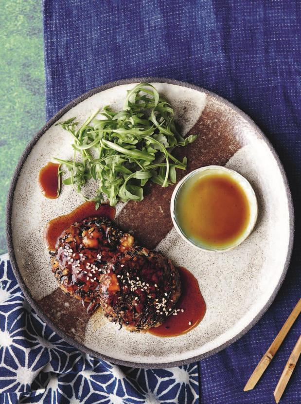 Teriyakischijven van tofu en hijiki