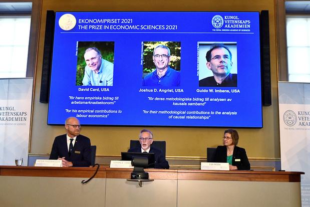 Nobelprijs voor Economie gaat naar David Card, Joshua Angrist en Guido Imbens