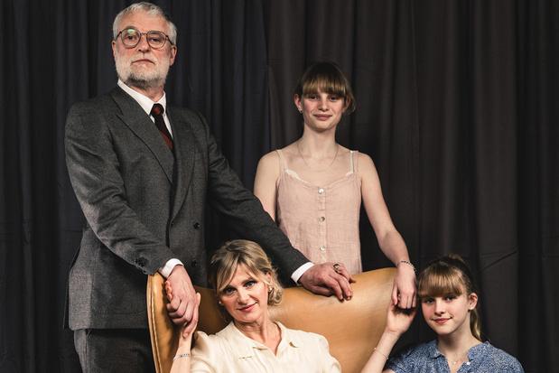 An Miller en Filip Peeters met dochters op de scène: 'Vier het leven'