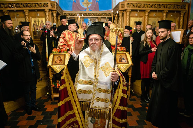 'Groene Patriarch' Bartholomeos bezocht Brugge