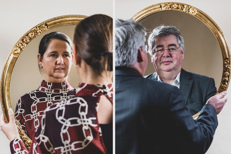 Veerle Wouters en Hendrik Vuye: 'Een partij is géén familie. Elke individualiteit moet verdwijnen'