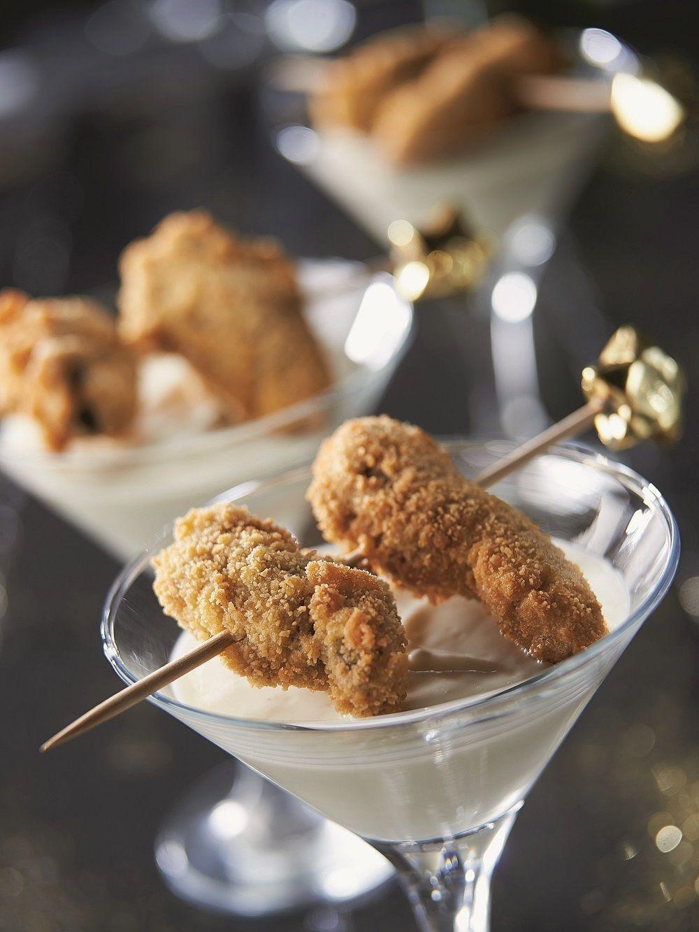 Gefrituurde oesters met zilte bloemkoolcrème, Presse Citron